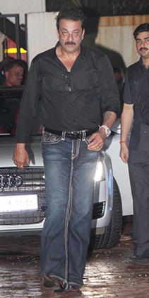 Sanjay Dutt Spotted at Close Friend Raj Kundras Birthday Party