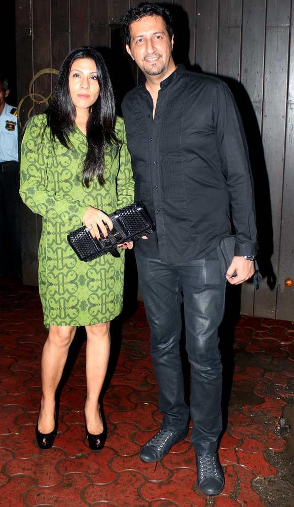 Sulaiman Merchant and His Wife at Raj Kundras Birthday Bash