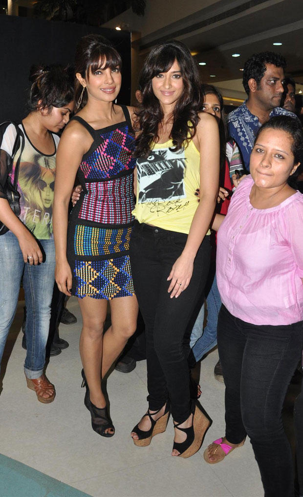 Priyanka and Ileana at Barfi Promotions in R City Mall