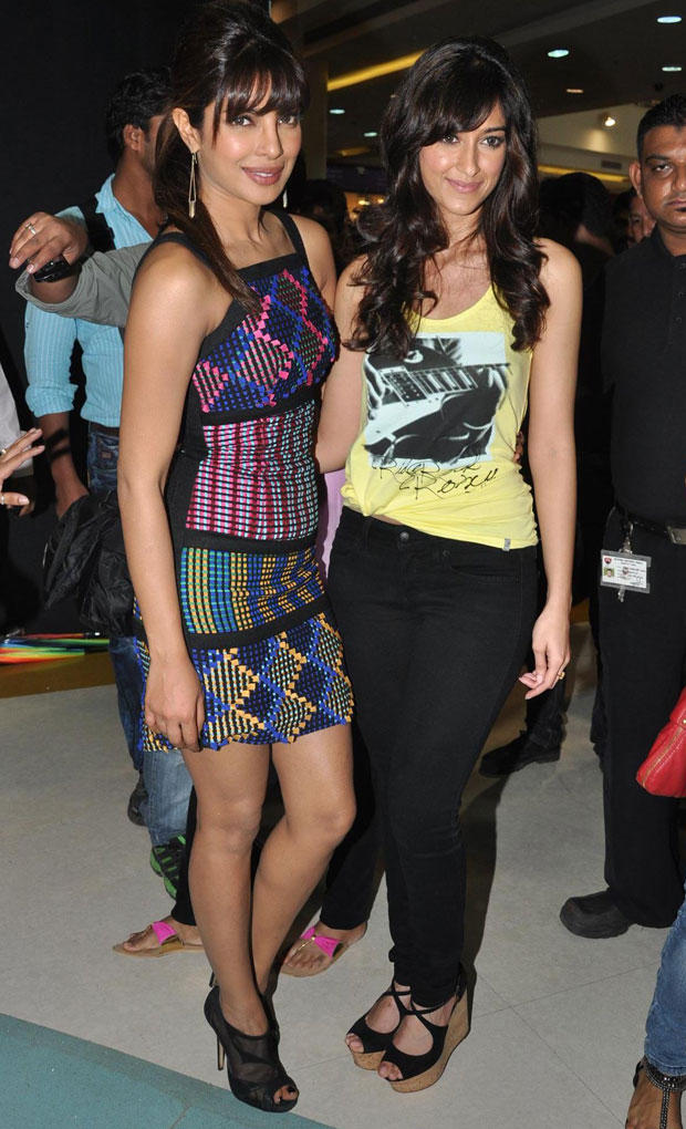 Priyanka and Ileana Spotted at Barfi Promotion In R City Mall