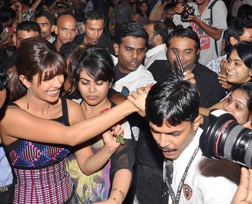Priyanka Chopra During The Promotion Of Barfi At R City Mall