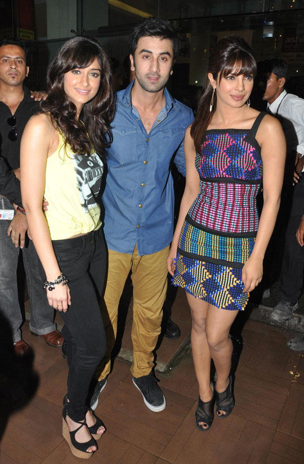 Priyanka,Ileana and Ranbir at R City Mall For Barfi Promotion