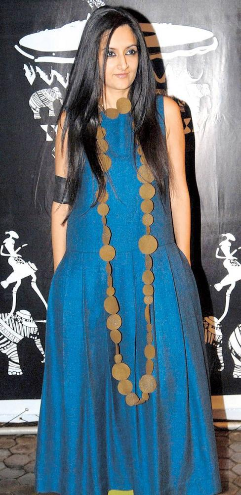 Payal Khandwala In Blue Gown At A Music Event