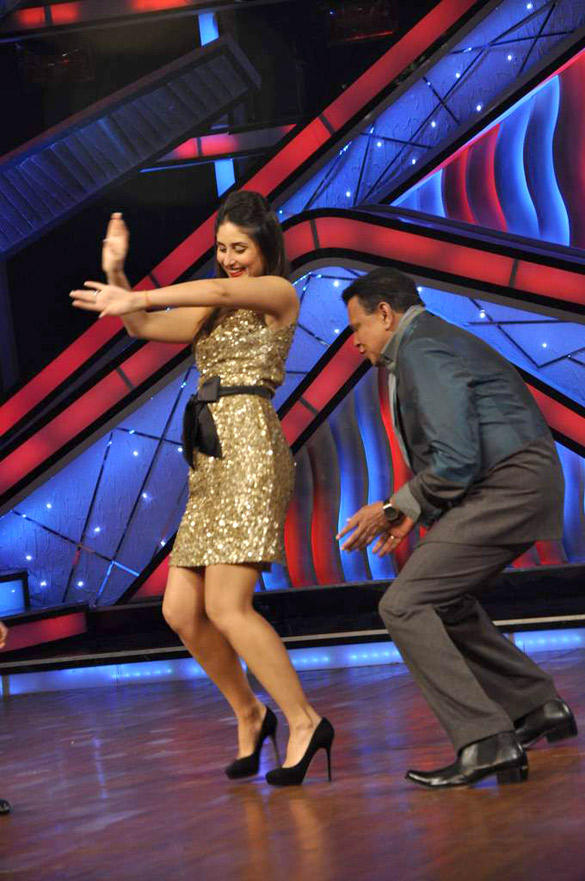 Kareena and Mithun Dance Still at DID Dance Ke Superkids Show For Heroine Promotion