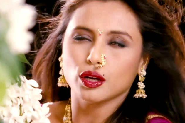Rani Mukherjee Spicy Red Wet Lips Pose In Aiyyaa