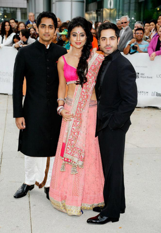 Shriya and Siddharth Pose During Toronto International Film Festival 2012