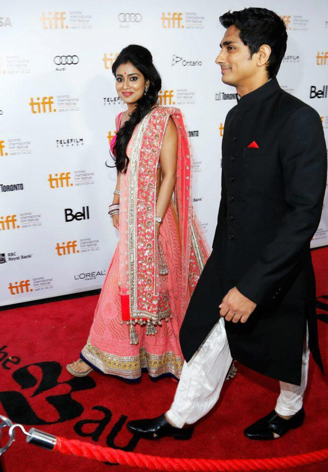 Shriya and Siddharth On Red Carpet at Toronto International Film Festival