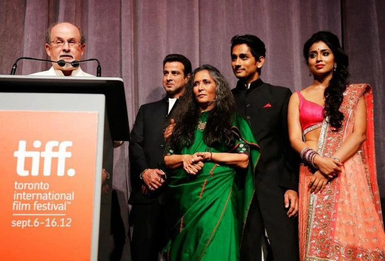 Shriya Saran and Siddharth During Toronto International Film Festival 2012