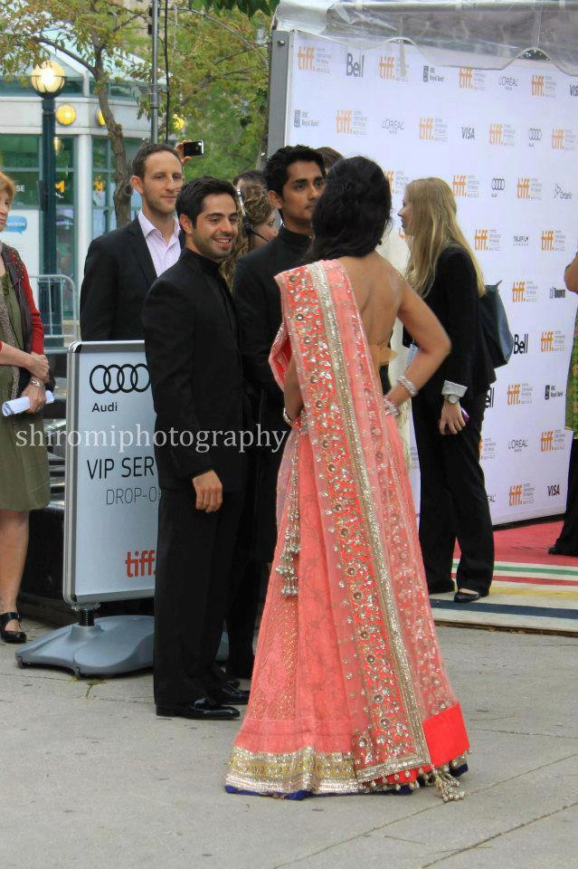 Shriya Saran Ghagra Choli Still During Toronto International Film Festival 2012