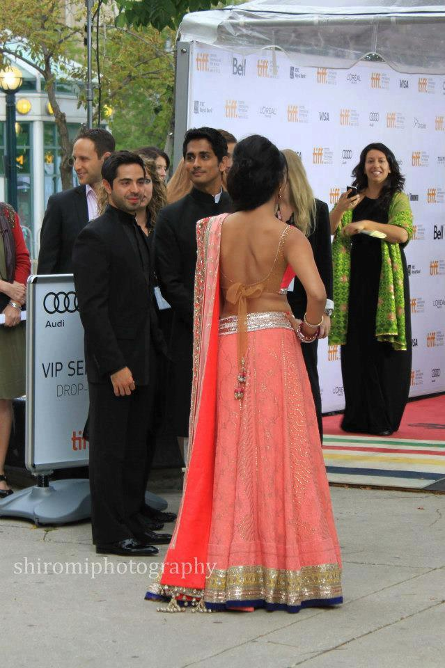 Shriya Saran Sexy Back Exposing Still During Toronto International Film Festival
