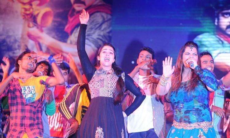 Charmi Kaur Hot Performance Still At Damarukam Audio Launch