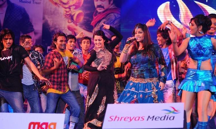 Charmi Latest Performance Still at Damarukam Audio Launch