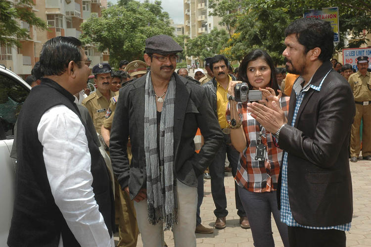 Actor Jagapathi Babu at Operation Duryodhana 2 Movie Location