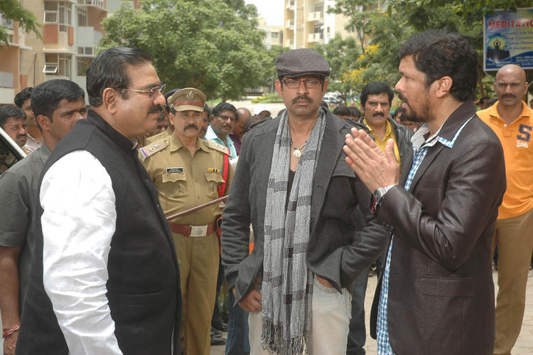 Posani Krishna,Erasu Pratap and Jagapathi Operation Duryodhana 2 Movie Shooting Sets Still