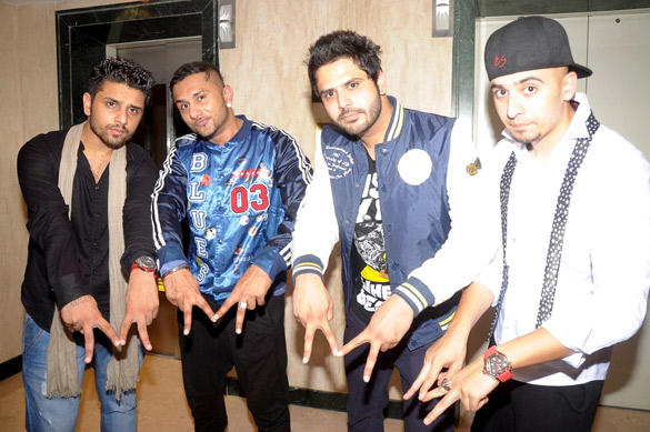 Honey Singh With Friends at Honey Singh's Live Concert