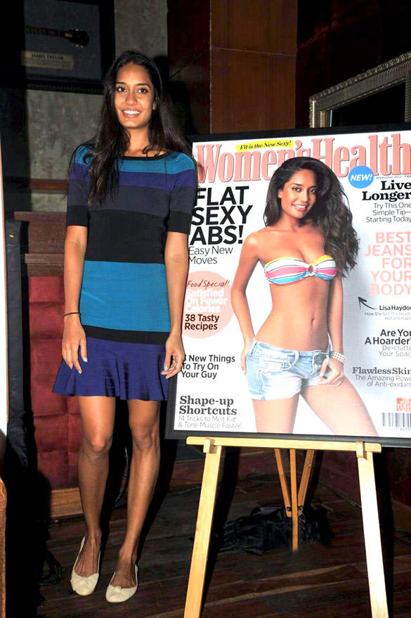 Lisa Haydon Looking Hot In Women's Health Magazine Cover Page