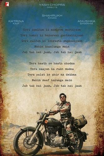 SRK Jab Tak Hai Jaan Movie Latest Wallpaper