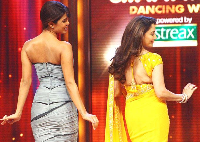 Madhuri and Priyanka Sizzling Performance Still at Jhalak Dikhhla Jaa Show