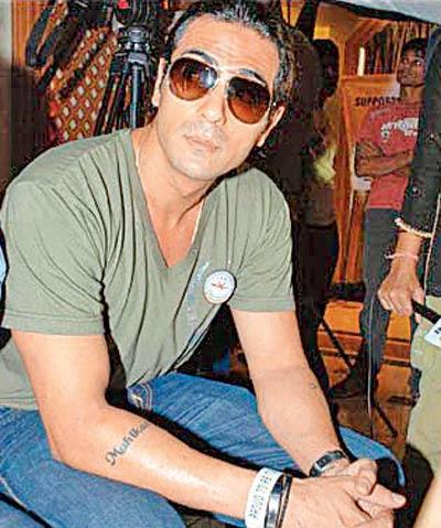 Arjun Rampal's Daughters Names Are Engraved On His Arms