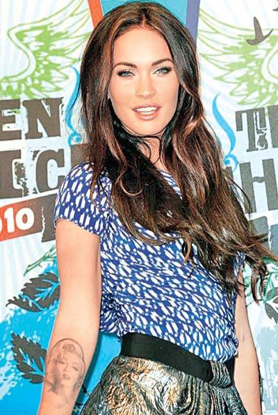 Megan Fox Has A Tattoo of Marilyn Monroe On Her Arm