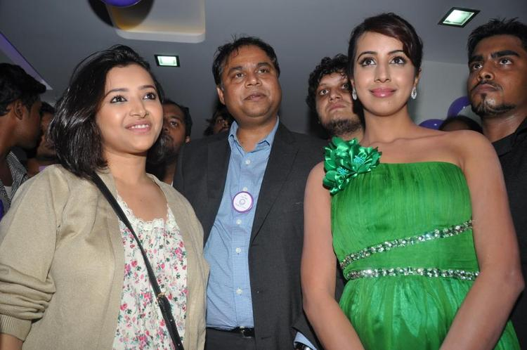 Sanjana and Shweta at Naturals Family Salon and Spa Launch Event at Champapet