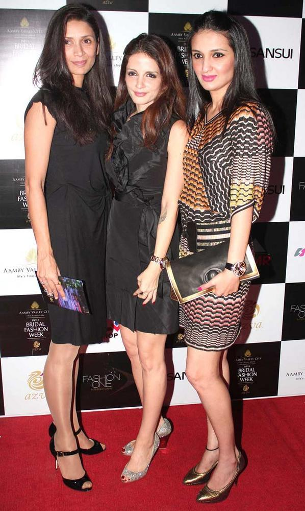 Mehr Jesia,Suzanne Roshan and a Friend At India Bridal Fashion Week