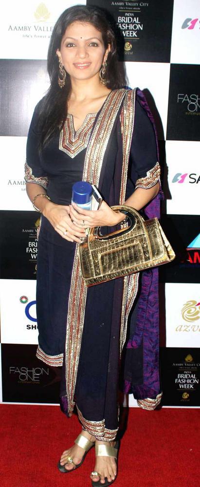 Prachi Shah Snapped at India Bridal Fashion Week 2012 In Mumbai