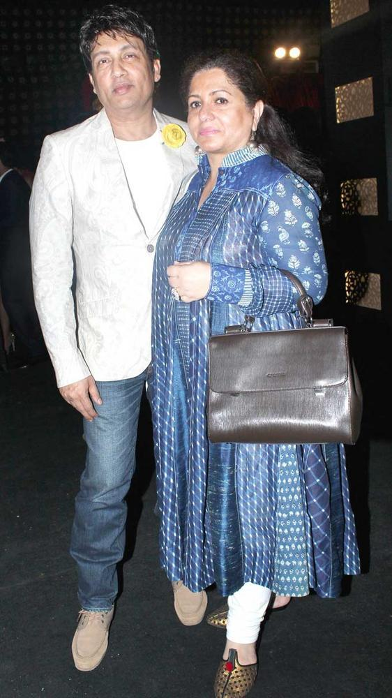 Shekhar Sumar With His Wife At India Bridal Fashion Week 2012