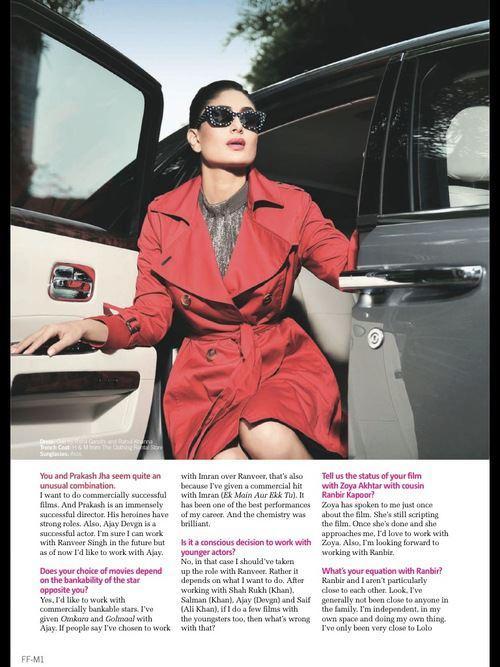 Style Icon Kareena Kapoor On Filmfare Magazine September 2012