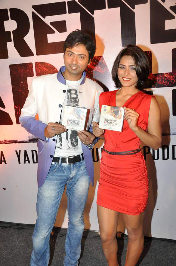 Bhoop Yaduvanshi and Madhurima Tuli at Audio Release of Cigarette Ki Tarah