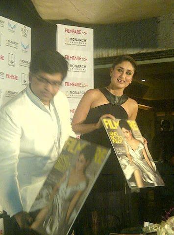 Kareena Is Wearing Gauri and Nainika Dress at The Launch Of Filmfare Magazine
