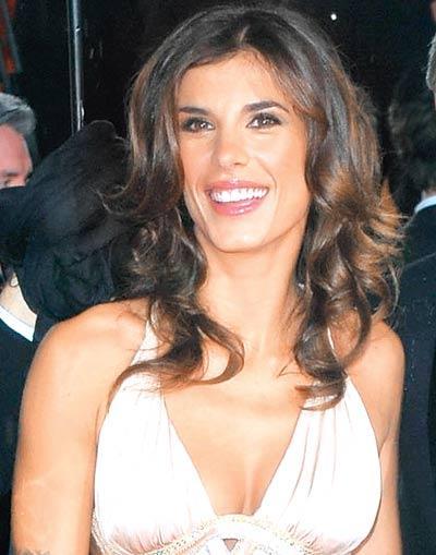 Italian Actress Elisabetta Canalis Smiling Face Look Still