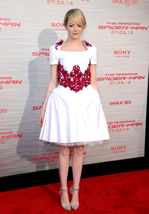 The Red Carpet Ruler Emma Stone Cute Pic