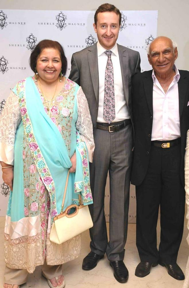 Yash Chopra and Pamela Chopra at The Launch Of Sherle Wagner Store