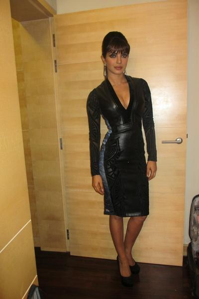 Priyanka Black Dress Hot Still At The Launch Of Her Debut Single In My City