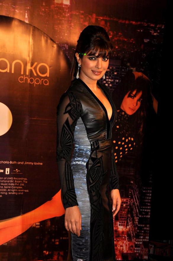 Priyanka Looks Hot In Falguni and Shane Peacock Dress at Launch of Her In My City Album
