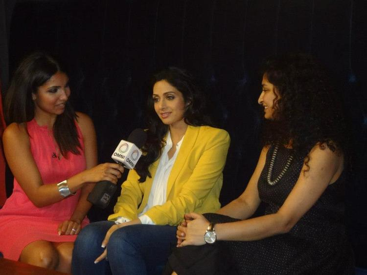 Sridevi Being Interviewed At TIFF 2012