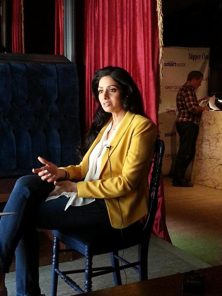 Sridevi On The Sets Of An Interview in TIFF