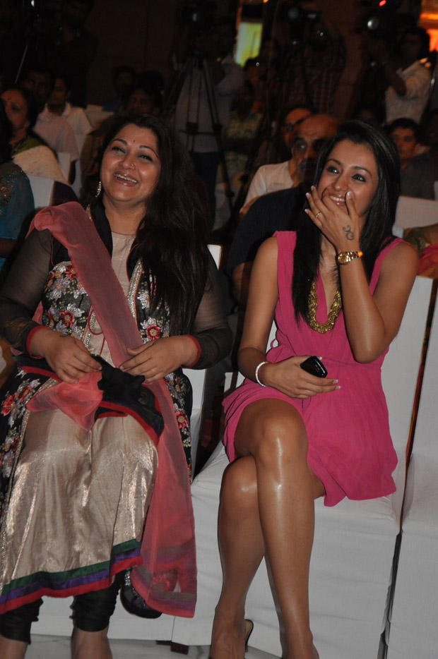 Trisha and Kushboo Open Smile Pic During JFW Magazine Launch Event