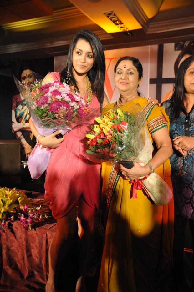 Trisha Welcome Pic at JFW 5th Anniversary Magazine Launch Event