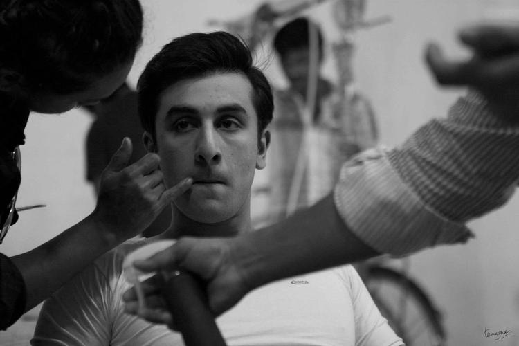 Ranbir Kapoor Barfi Movie Sets Pic