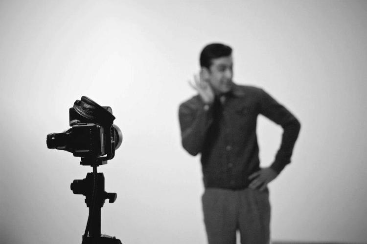 Ranbir Kapoor Cute Pose On The Sets Of Barfi