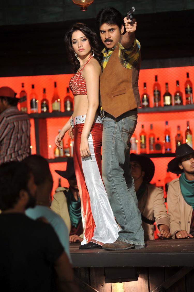 Tamanna and Pawan Kalyan Latest Still In Cameraman Gangatho Rambabu Movie