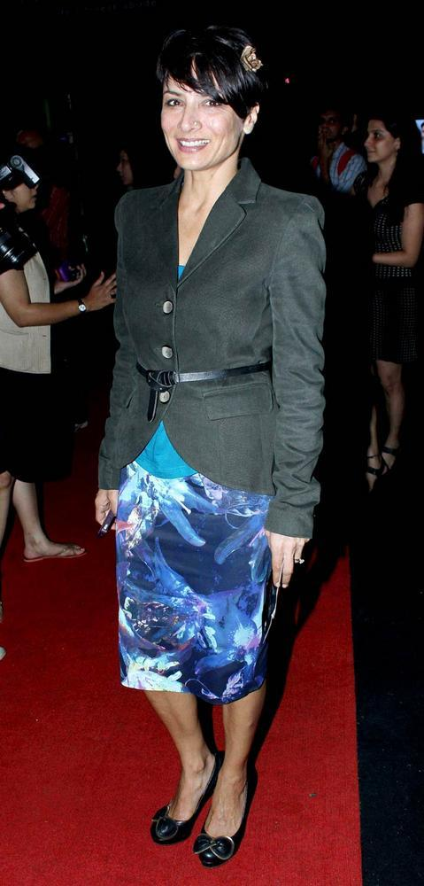 Adhuna Akhtar Snapped at Aamby Valley Bridal Fashion Week 2012 Day 2 Event