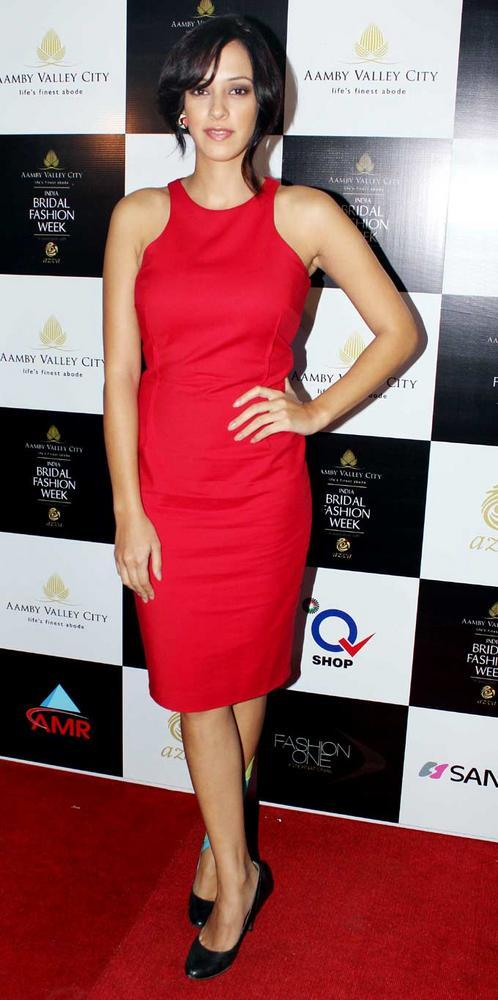 Hazel Keech Red Hot Pic at Aamby Valley Bridal Fashion Week 2012 Day 2 Event