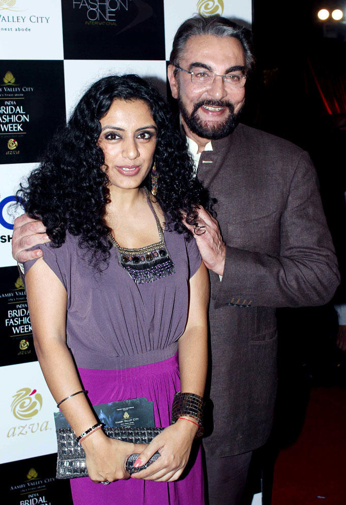 Kabir Bedi with Parveen Dusanj Snapped at Aamby Valley Bridal Fashion Week 2012