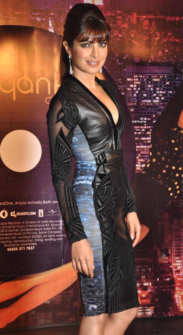 Priyanka Chopra Hot Pose In Falguni and Shane Dress at Music Album In My City Launch Event