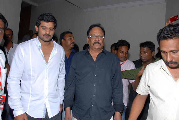 Prabhas Snapped at Rebel Audio Release Event