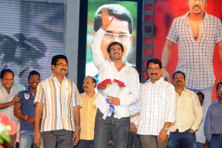 Prabhas Welcome Pic at Rebel Movie Audio Launch Event