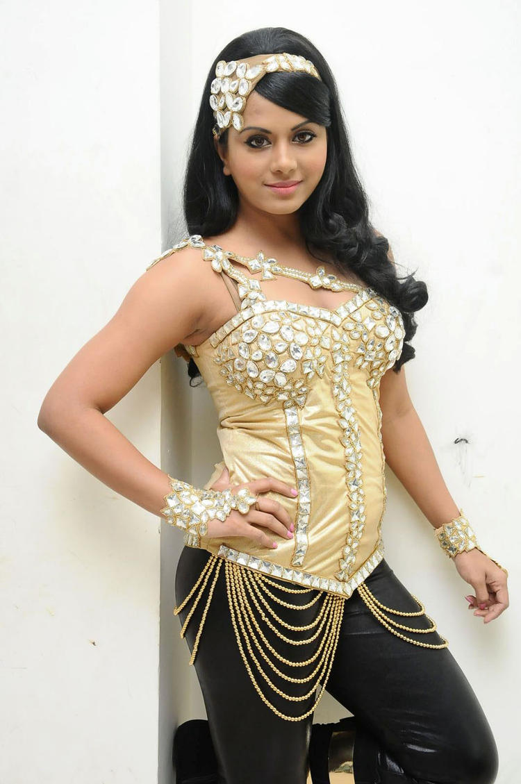 Rachana Mourya Hot Pose Photo Shoot At Rebel Audio Release